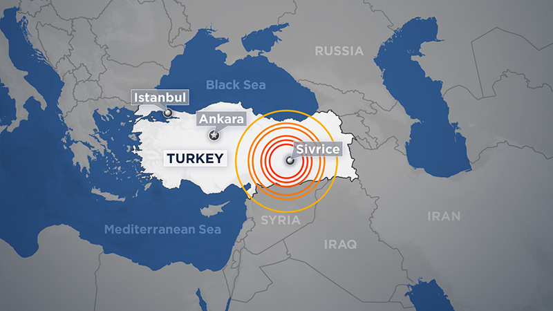 Turkey Earthquake map