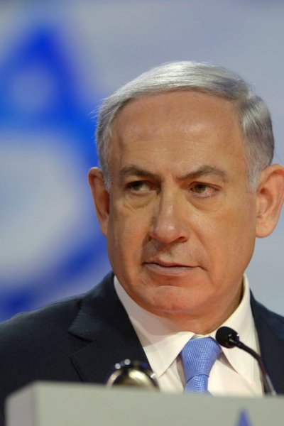 In this handout provided by the Israeli Government Press Office (GPO) Israeli Prime Minister Benjamin Netanyahu speaks during the American Israel Public Affairs Committee (AIPAC) 2015 Policy Conference, March 2, 2015 in Washington, DC.