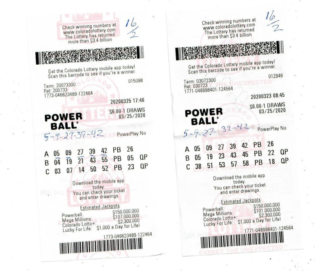Colorado Man Wins Two 1m Lottery Prizes In One Day Using Same Numbers Nbc Boston