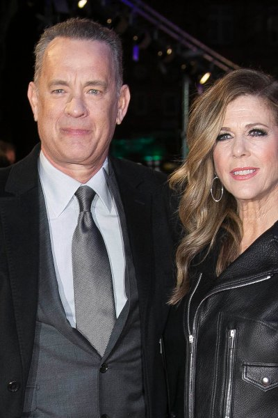 Actor Tom Hanks, left, and his wife Rita Wilson pose for photographers upon arrival at the premiere of the film 'The Post ' in London, Wednesday, Jan. 10th, 2018.