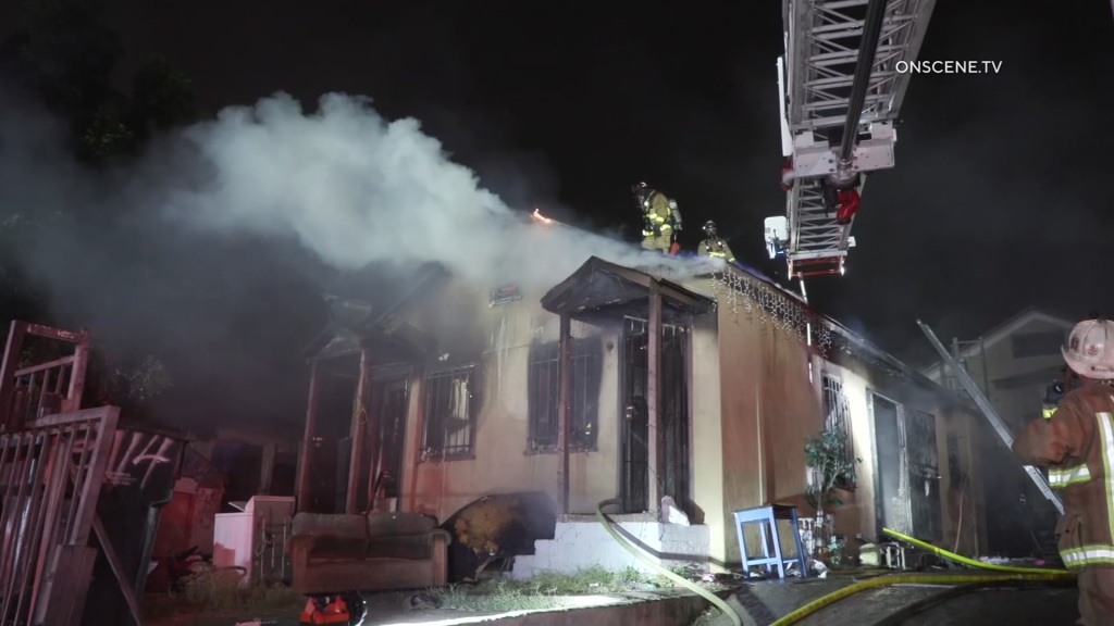 firefighters put out house fire