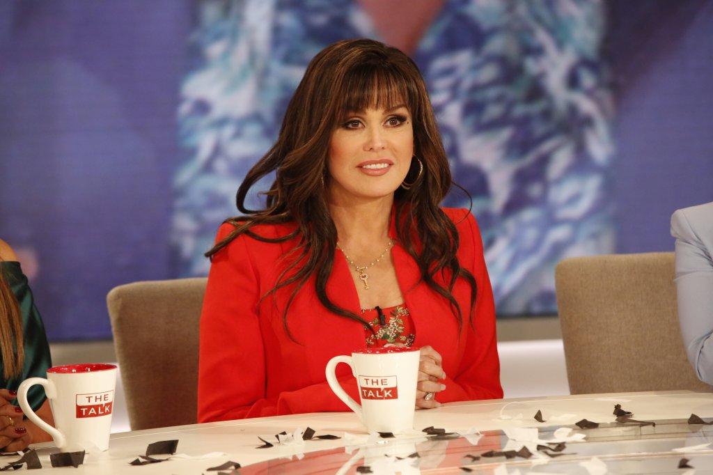 """Marie Osmond is seen on set of CBS's """"The Talk."""""""