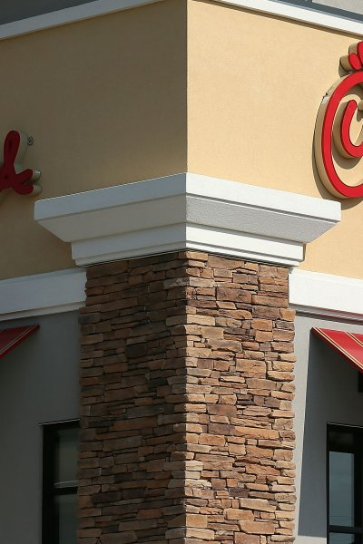In this file photo, the signs of a Chick-fil-A are seen July 26, 2012 in Springfield, Virginia.