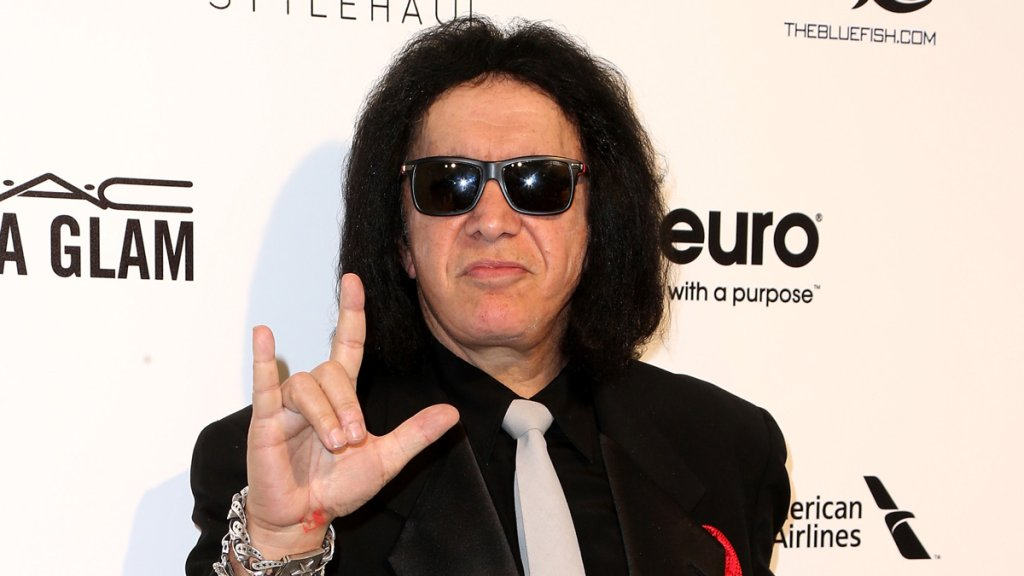 Gene Simmons attends the Elton John AIDS Foundation's Oscar Viewing Party