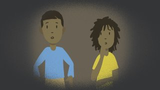 Illustration of two children for NBCLX