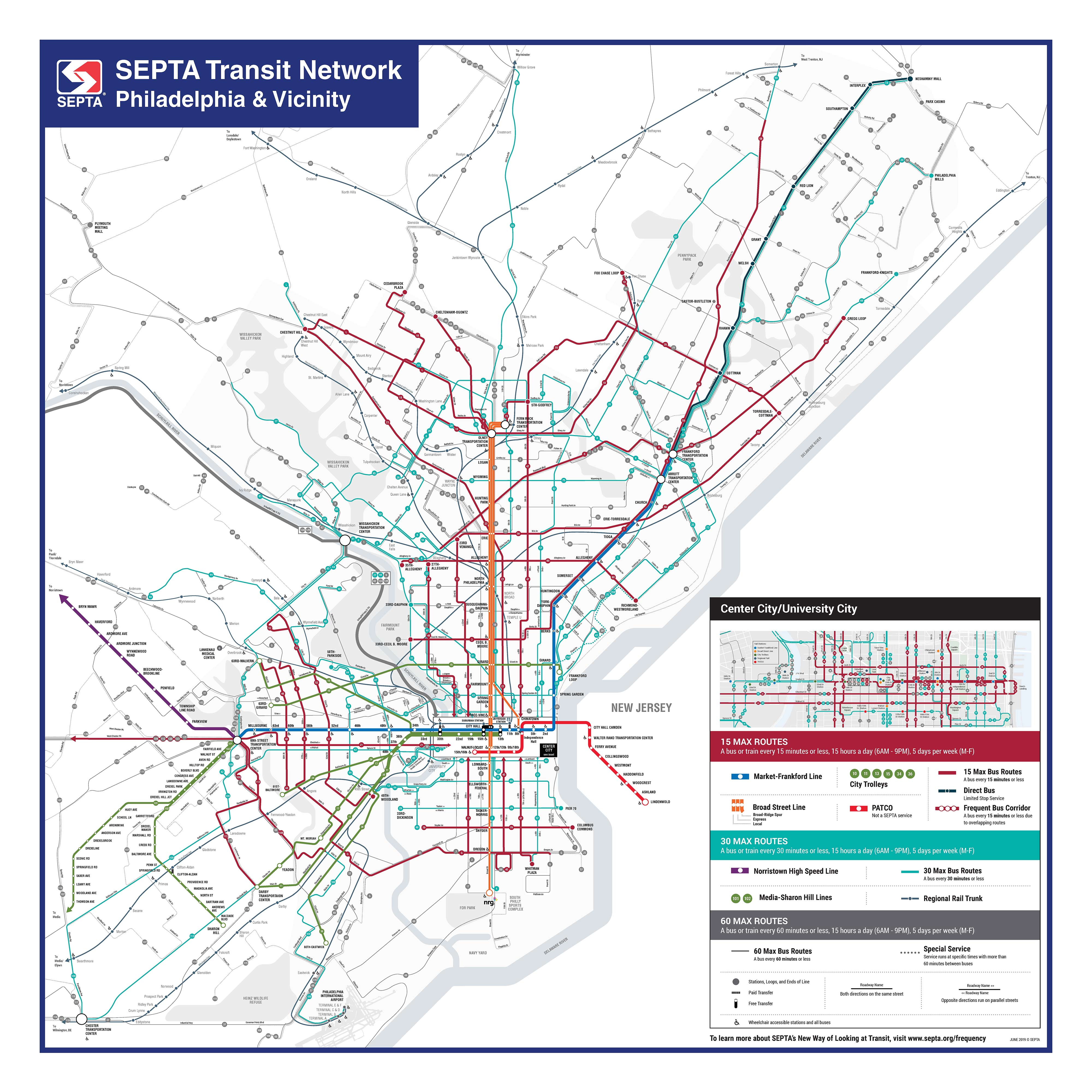 philadelphia train station map Septa Introduces New Transit Map That Includes Bus Routes philadelphia train station map