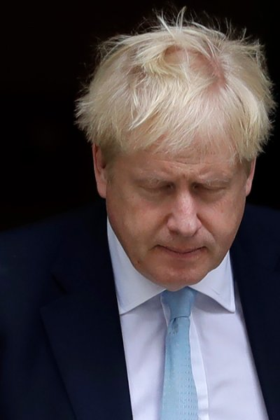 In this Oct. 3, 2019, file photo, Britain's Prime Minister Boris Johnson leaves Downing Street to attend Parliament in London.