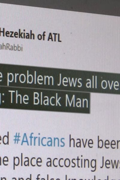 screenshot of hateful social media post