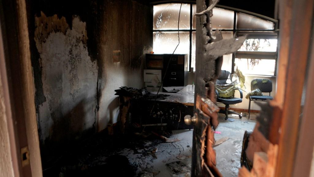 Destrozos en una clínica en Chiapas