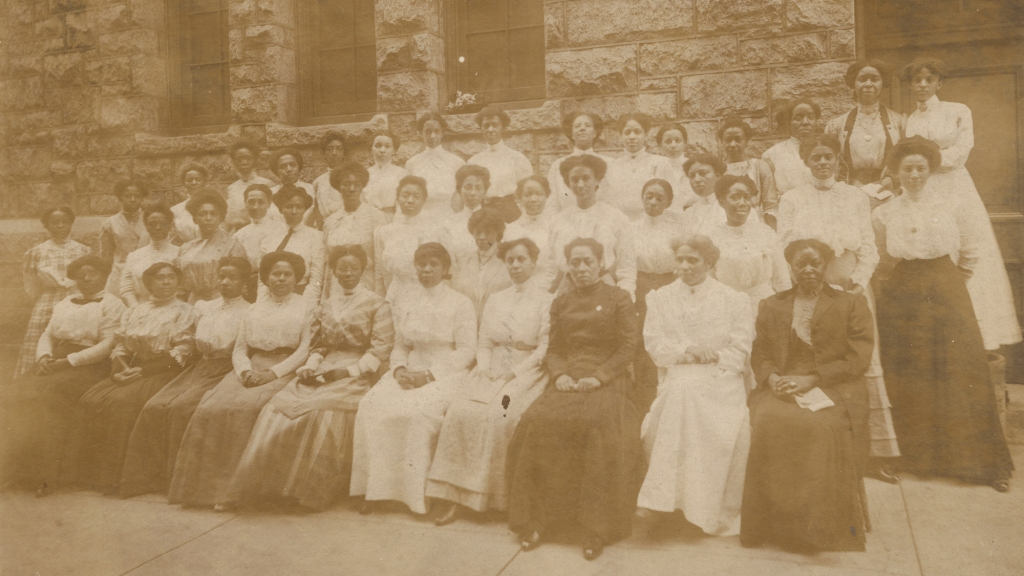 Attendees seen at the first convention of the National Association of Colored Graduate Nurses, Boston, 1909.
