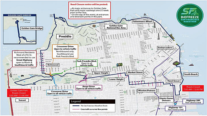 Sf Marathon Sunday To Cause Road Closures Across The City Nbc Bay Area All systems listed in this guide, even those that are shuttles, are open to the general public. sf marathon sunday to cause road