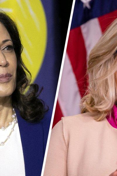 Sen. Kamala Harris (left) and Rep. Liz Cheney (right).