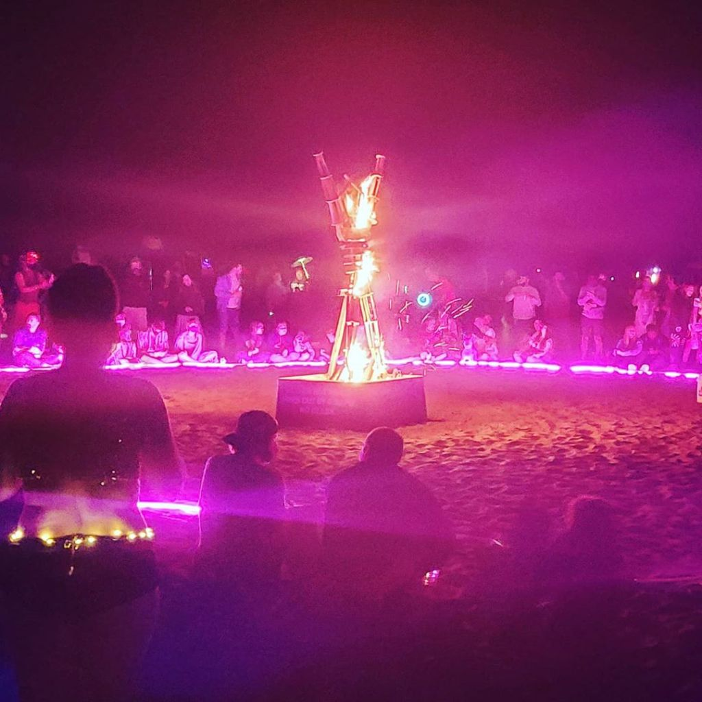 Thousands of people attend a Burning Man celebration in San Francisco over Labor Day weekend.