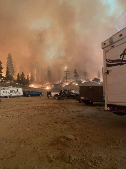 The Creek Fire quickly spread, leaving campers stranded on Sept. 5, 2020.