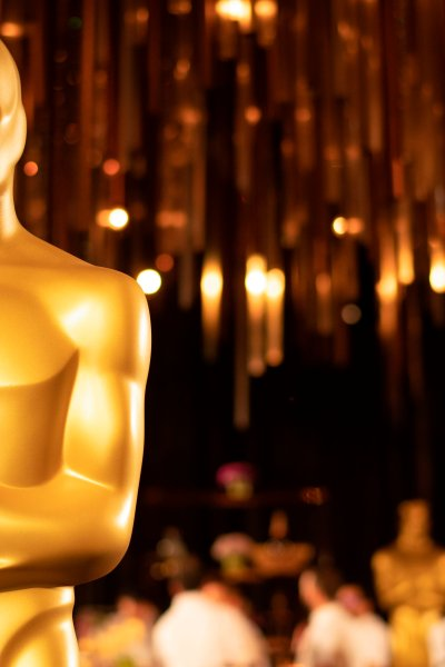 An Oscar Statue is displayed at the 92nd Annual Academy Awards Governors Ball press preview at The Ray Dolby Ballroom at Hollywood & Highland Center, in Hollywood, California, on January 31, 2020.