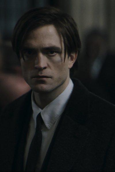 "Robert Pattinson as Batman in the upcoming film ""The Batman."""