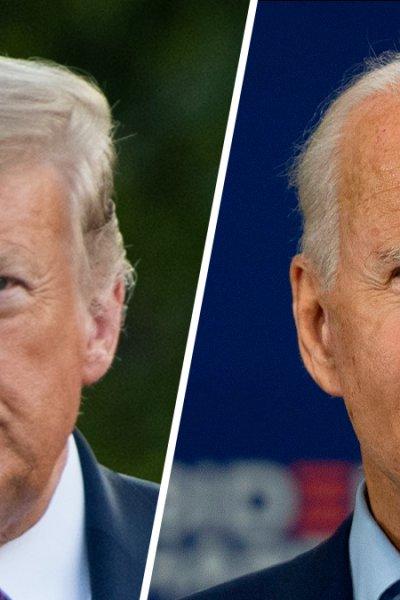 President Donald Trump (left) and Democratic Presidential Candidate Joe Biden (right).