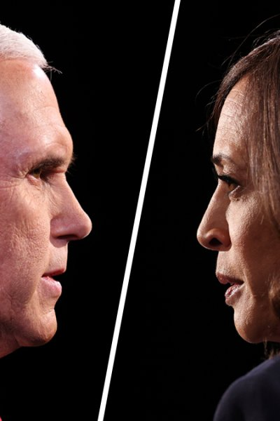 Vice President Mike Pence (left) and Senator Kamala Harris, the Democratic Vice Presidential nominee (right).