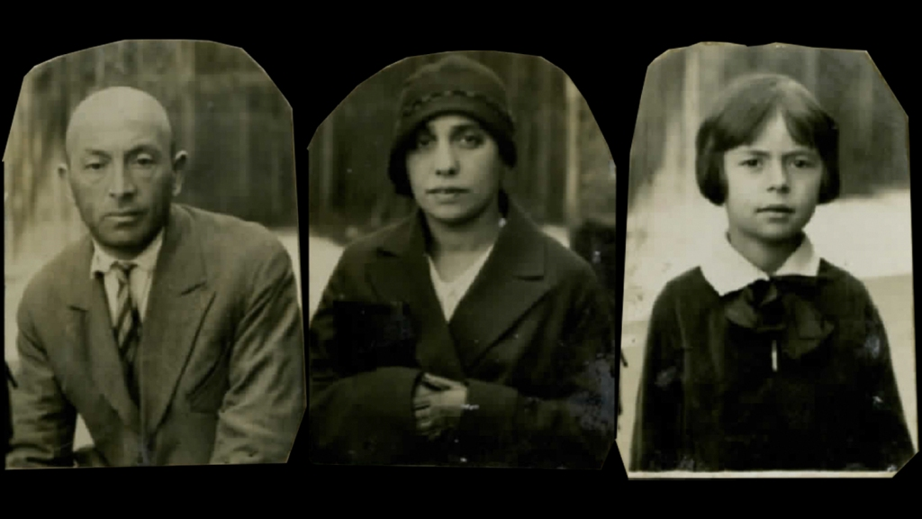 From left: her father, Shimon Epstein, her mother, Malke Epstein and her sister, Esye Epstein. There are no known photos of Beba Epstein's brothers Mote and Khayim.