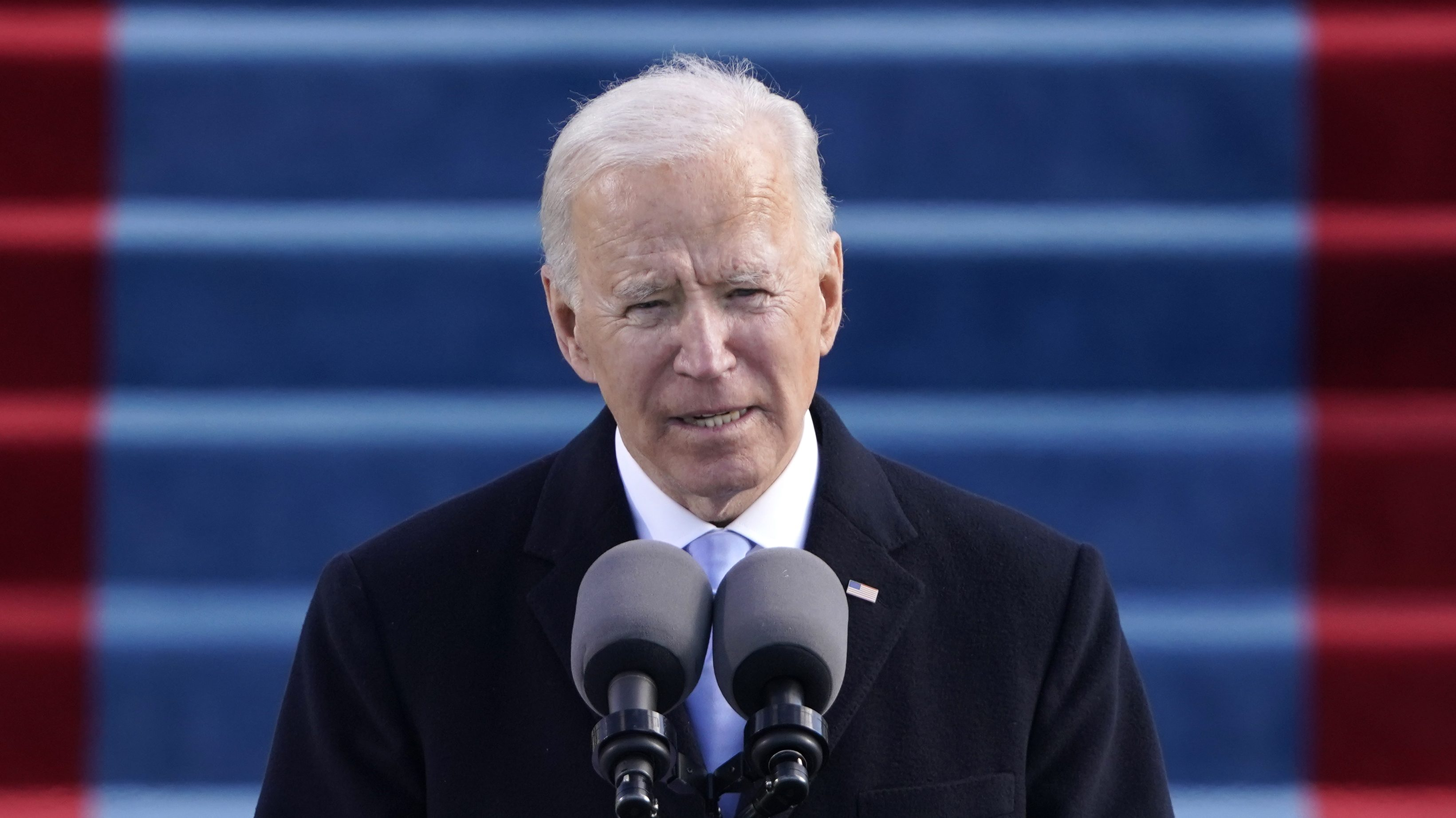 President Joe Biden speaks during the 59th Presidential Inauguration at the Capitol in Washington, Jan. 20, 2021.
