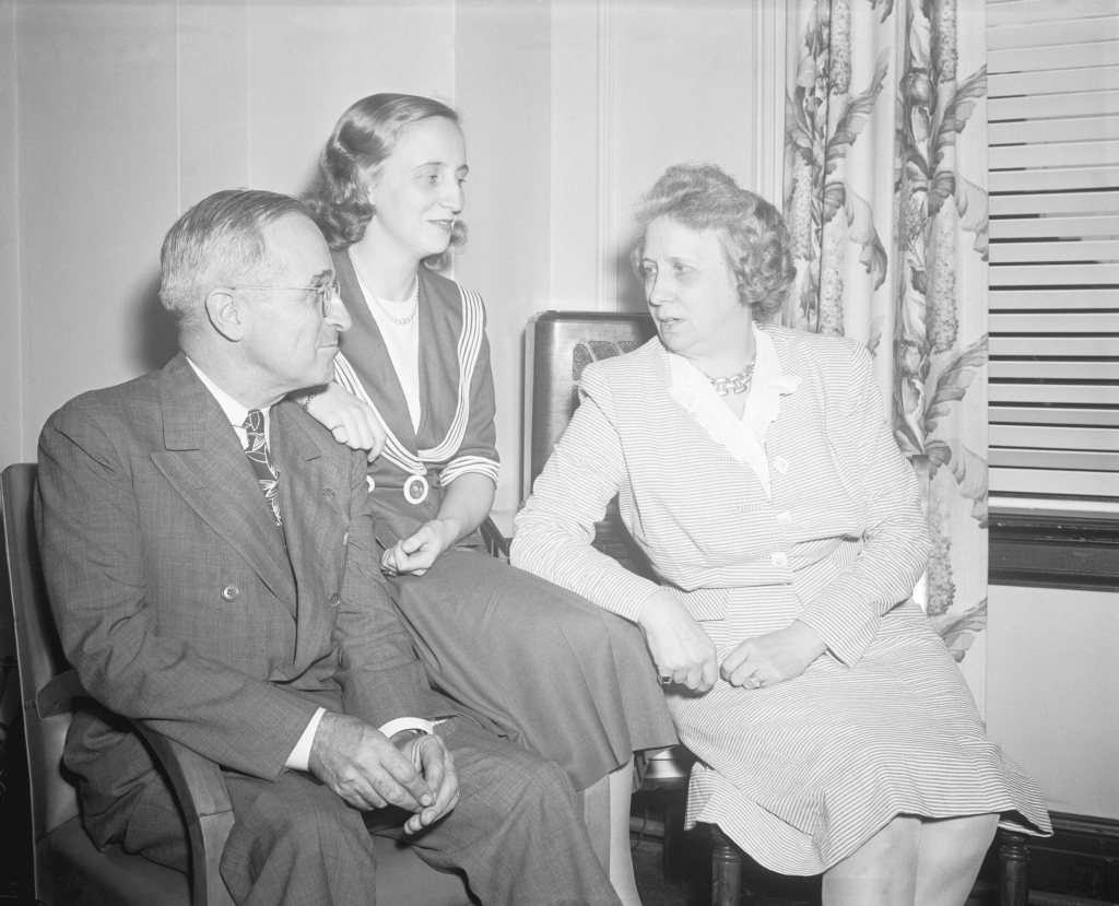 Harry S. Truman, Margaret Truman, and Elizabeth Truman