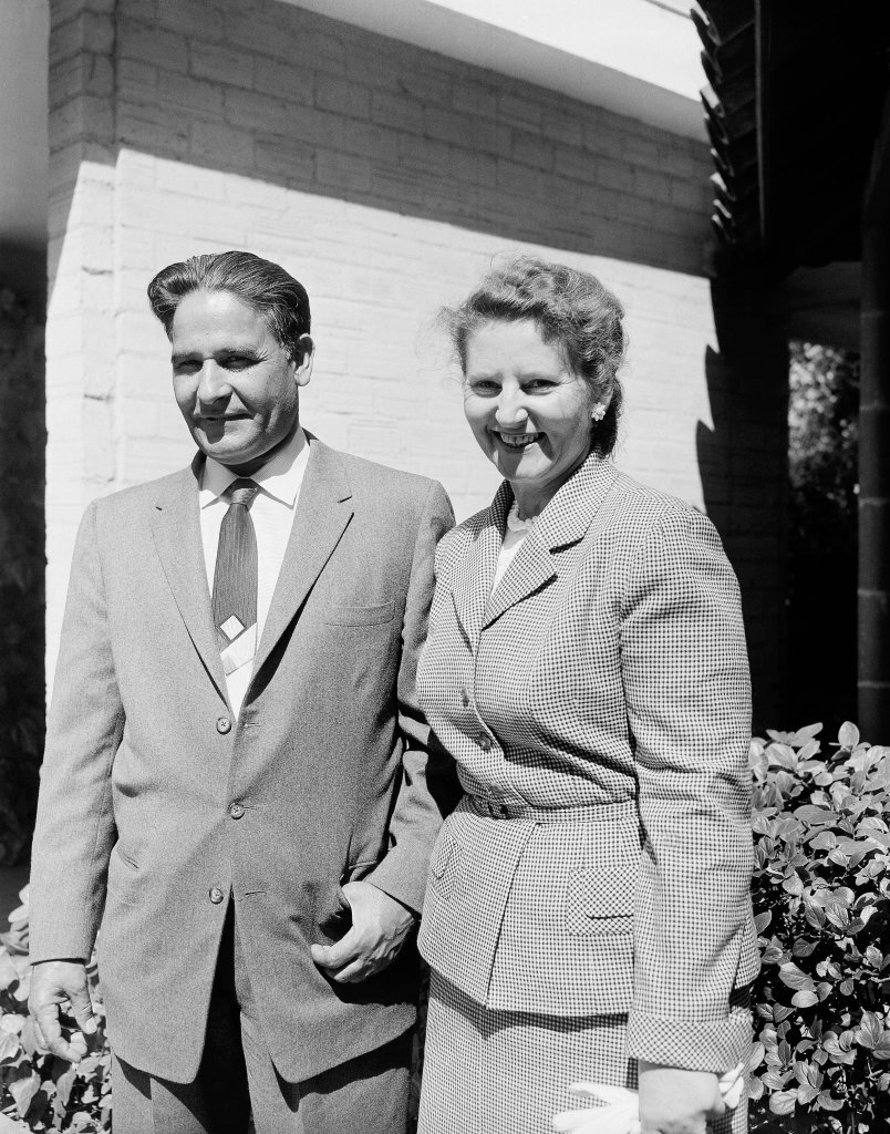 Dalip Singh Saund and his wife Marion