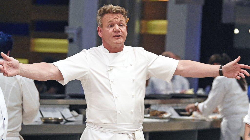 Chef Gordon Ramsay on set of Hell's Kitchen