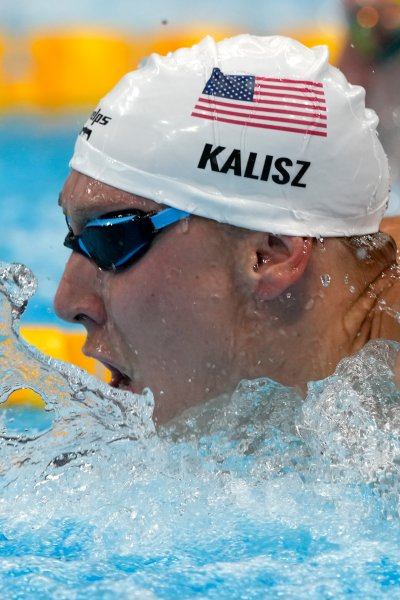Chase Kalisz swims in the Olympics