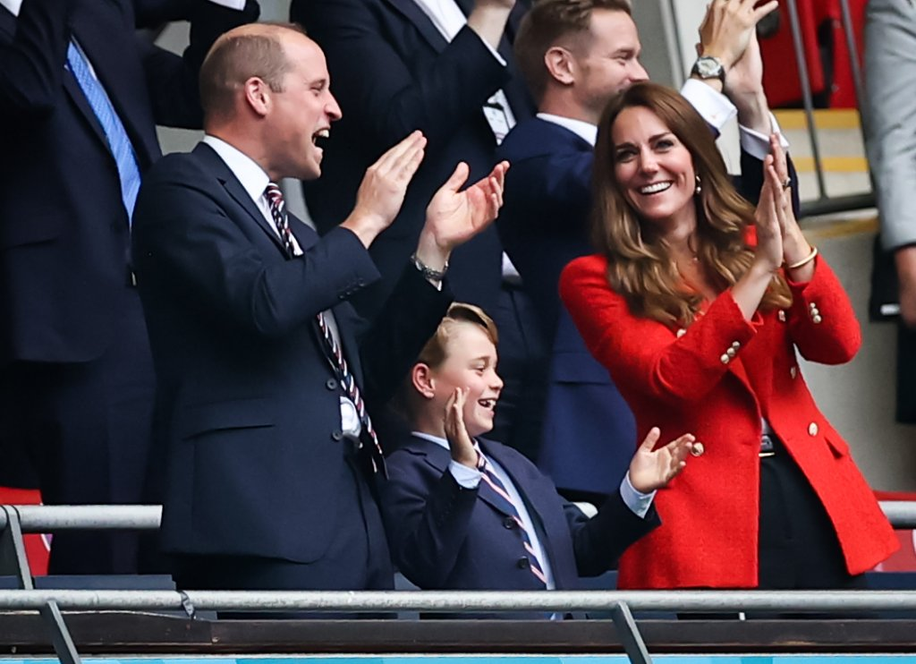 Prince William, Duke of Cambridge, his wife Kate, Duchess of Cambridge, and their son Prince George