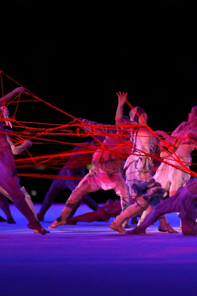 Dancers perform during the opening ceremony