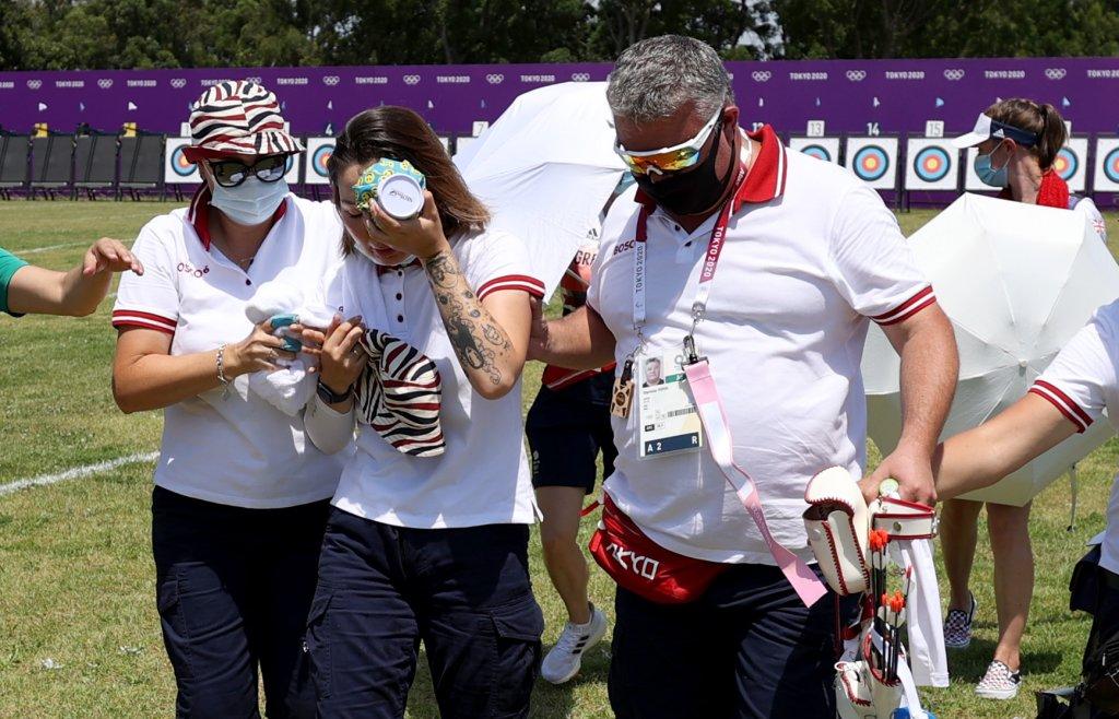 Svetlana Gomboeva recovering from collapse