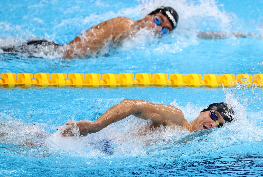 Robert Finke of Team United States competes in -r on day nine of the Tokyo 2020 Olympic Games at Tokyo Aquatics Centre on August 1, 2021, in Tokyo, Japan.