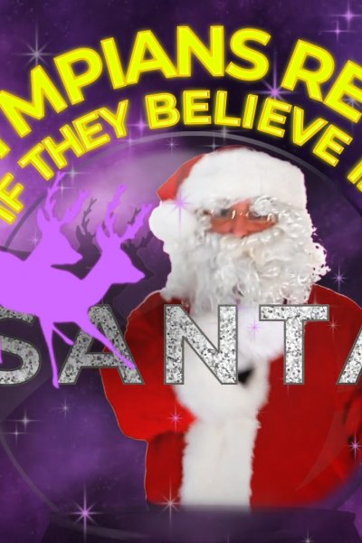 tiitle card olympians and santa
