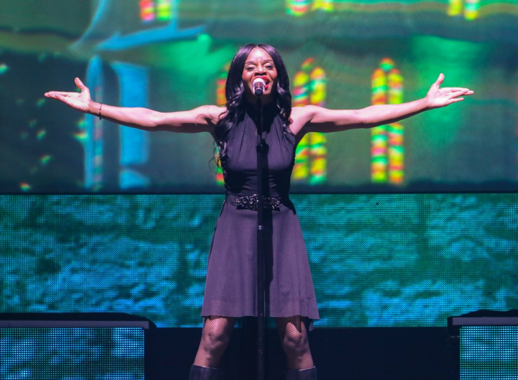 Al Pitrelli, Andrew Ross, Angus Clark, April Berry, Asha Mevlana, Ashley Hollister, Blas Elias and Bryan Hicks with Trans-Siberian Orchestra performs at the Infinite Energy Center on Sunday, Dec. 8, 2019, in Atlanta.