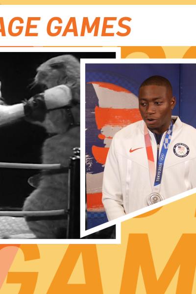 Grant Holloway and cats fighting