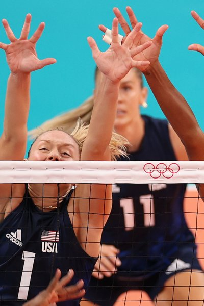 Team USA women's volleyball plays the Dominican Republic
