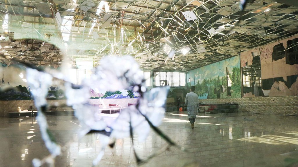 A suicide bombing targeted a wedding reception in Kabul, Afghanistan, Aug. 18, 2019.