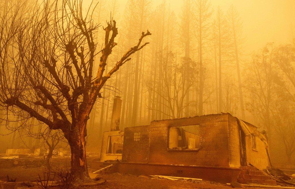 Dixie fire in Greenville, California
