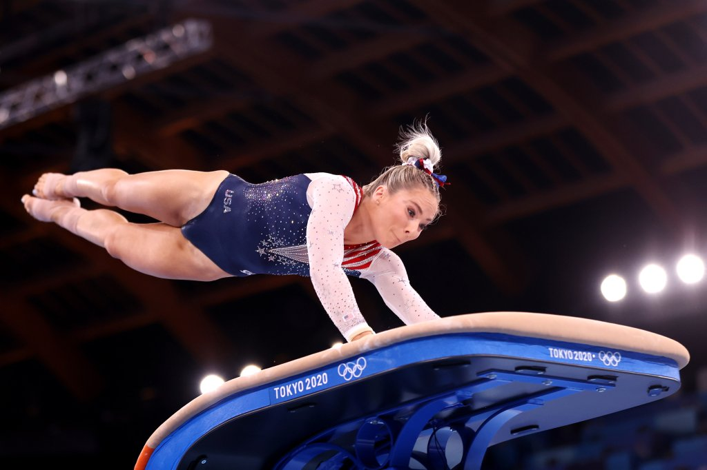 Mykayla Skinner of Team USA competes in the Women's Vault Final on day nine of the Tokyo 2020 Olympic Games at Ariake Gymnastics Centre on Aug. 1, 2021 in Tokyo, Japan.