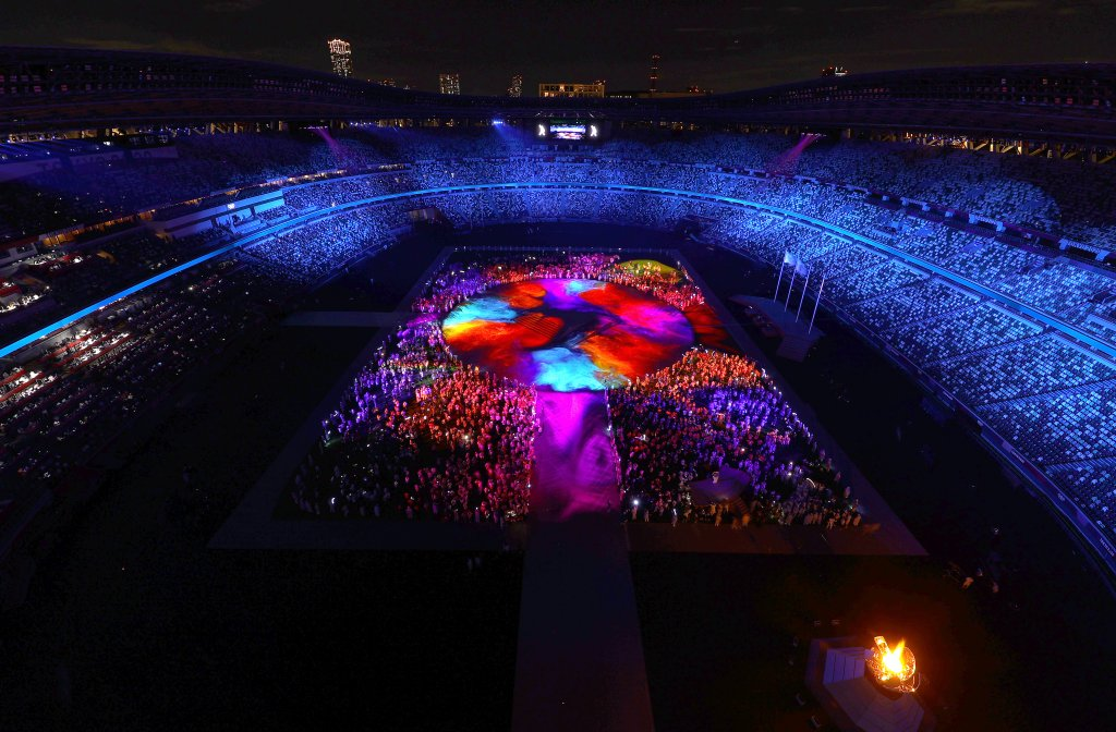 The Athletes of the competing nations enter the stadium during the Closing Ceremony of the Tokyo 2020 Olympic Games at Olympic Stadium on August 08, 2021 in Tokyo, Japan.