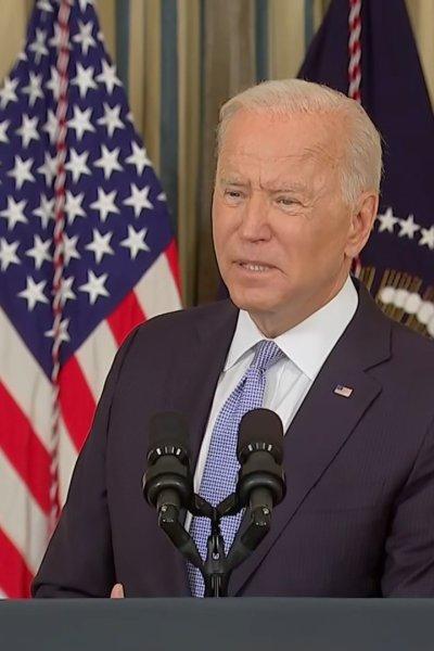 Biden addresses media
