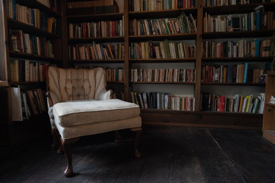 """The library inside 1677 Round Top Road in Burrillville, Rhode Island, which served as inspiration for """"The Conjuring""""."""